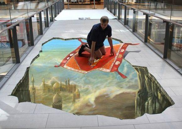 3D street art by Nikolaj Arndt
