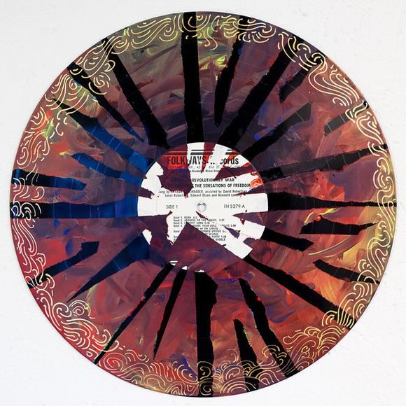 Vinyl record mandalas