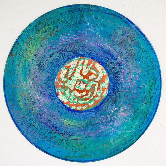 Vinyl record mandalas by Sara Roizen
