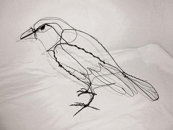 Animal Wire Sculpture Bird