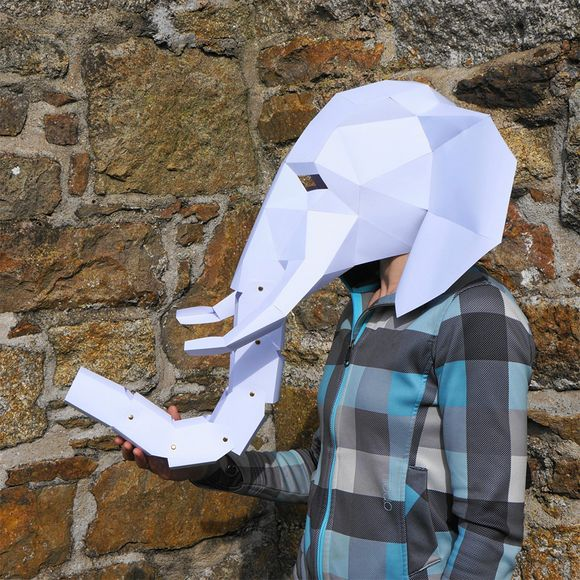 elephant geometric mask by Steve Wintercroft