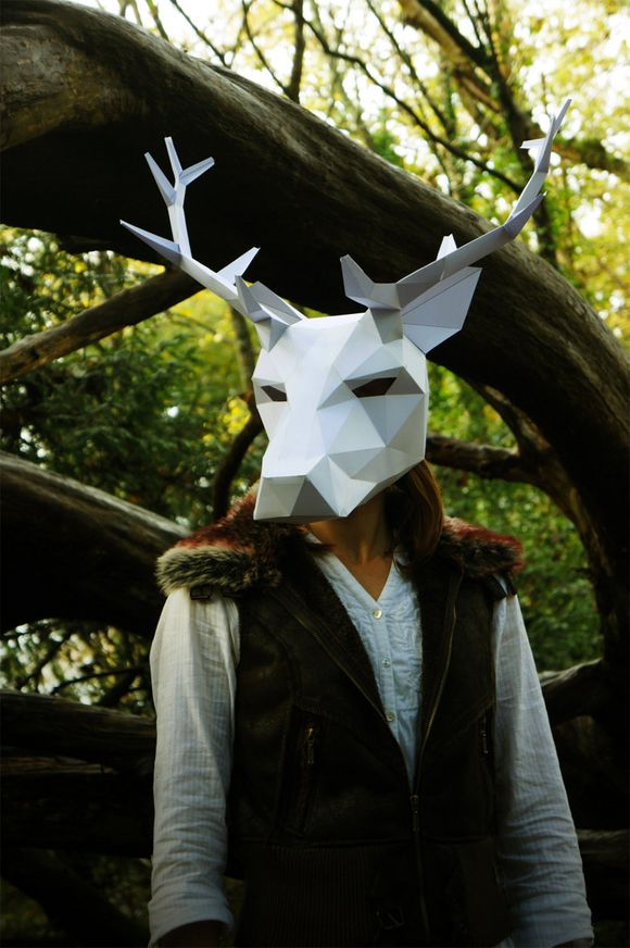 animal 3D paper mask