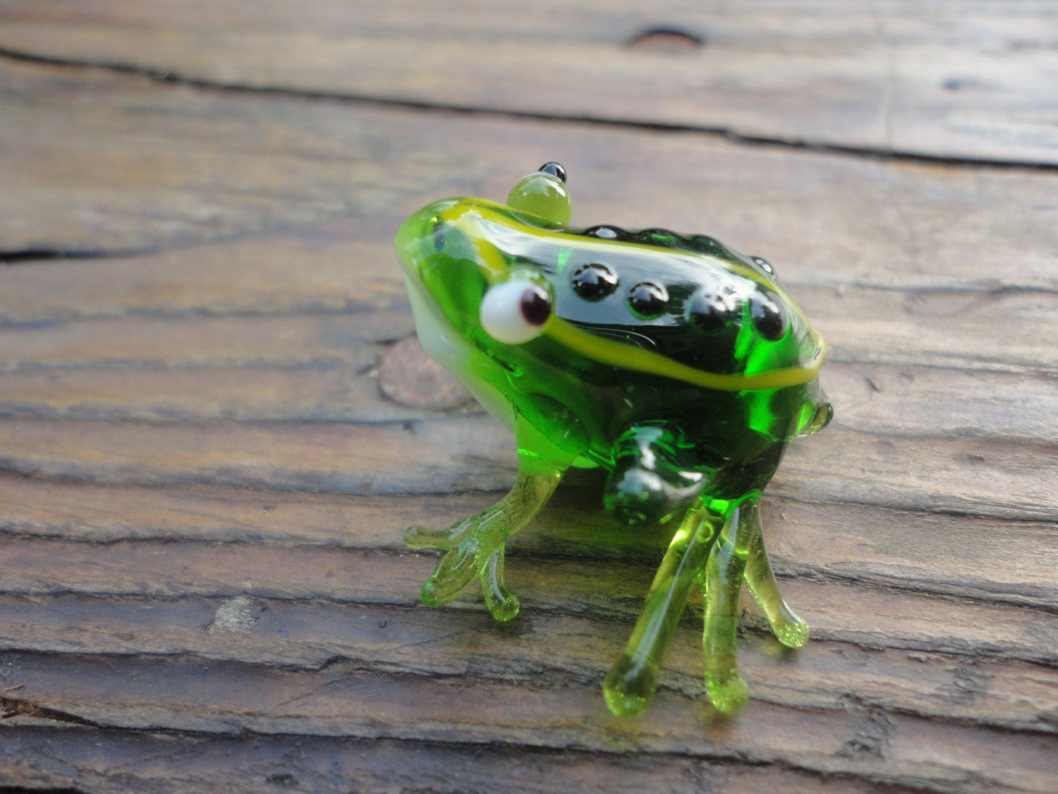 hand blown animal figurines frog