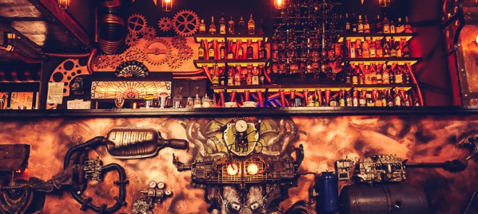 A Steampunk-Themed Cafe in Romania