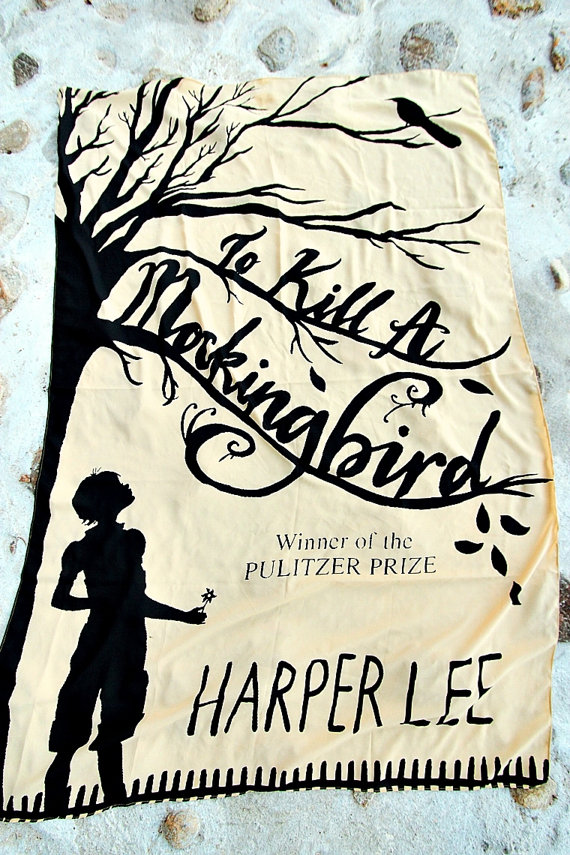 book scarves, To kill a mockingbird