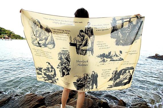 book scarves, Sherlock Holmes