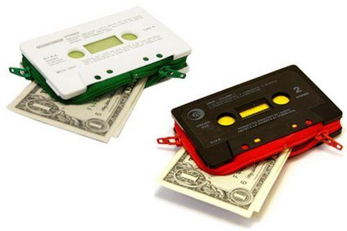 old cassette wallet