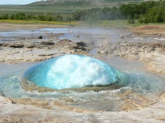 steaming geyser
