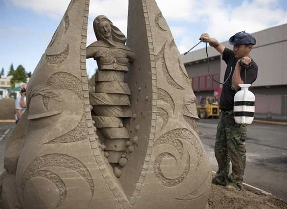 World Championship in creating sand sculptures