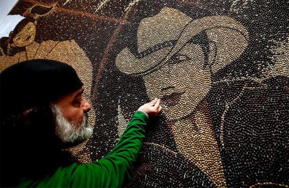 milion coffee beans mosaic