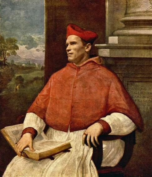arnold schwarzenegger as pope