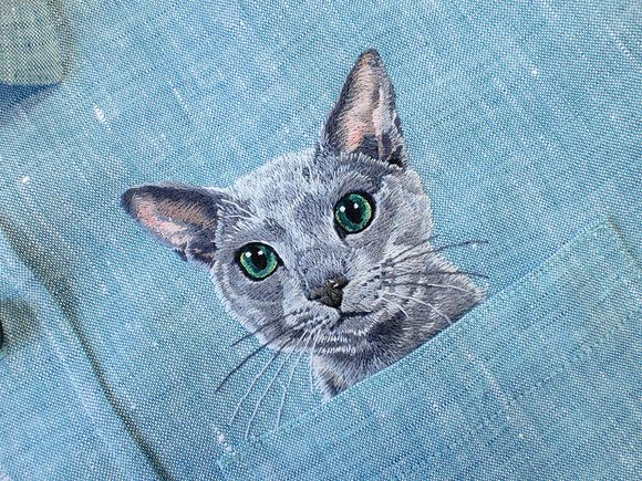 Embroidered pets on clothes
