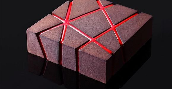Geometric cake designs by Dinara Kasko