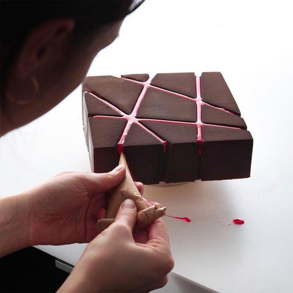 geometric cake designs