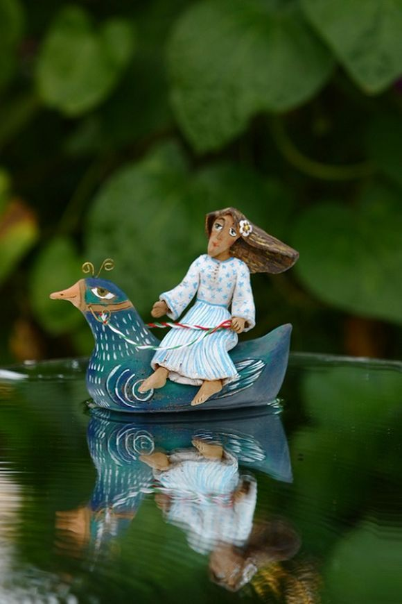 clay sculptures by Irina Tyulneva ceramic artist from Russia