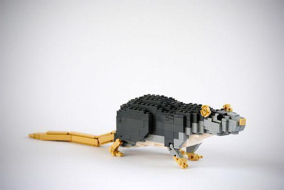 lego animal sculptures