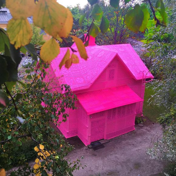 pink house in Finland