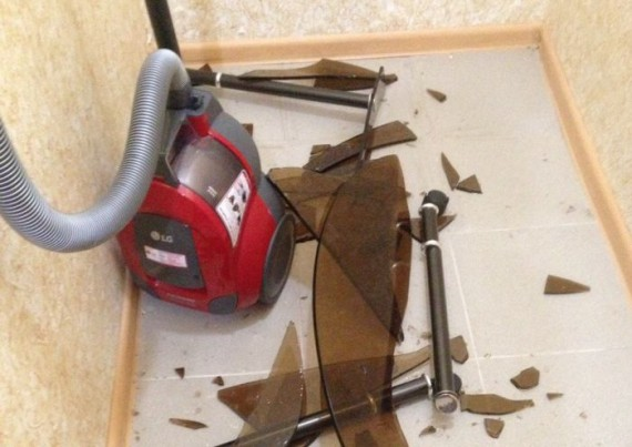 vacuum cleaner is not for glass