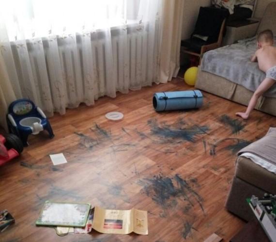 kid made a mess