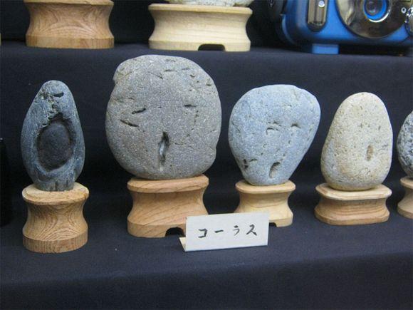 museum of rocks that look like faces in Japan