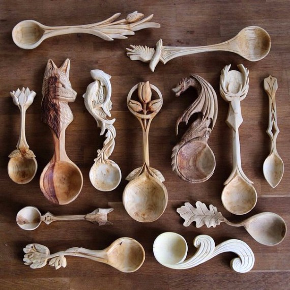 wood crafts spoons