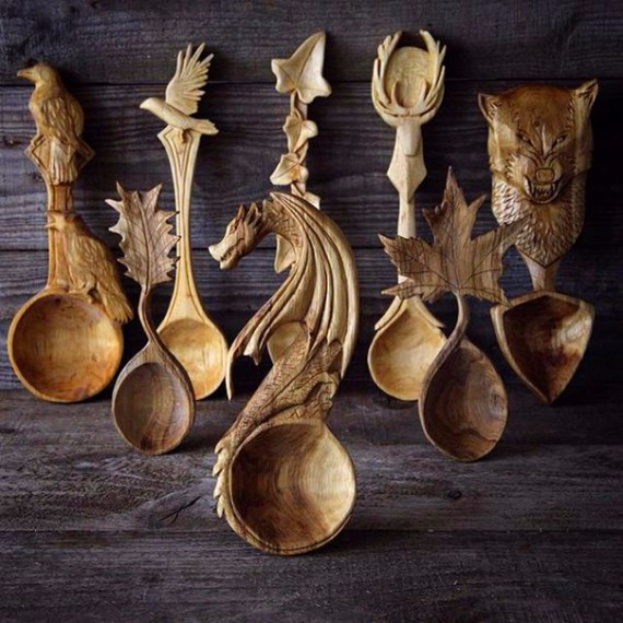 wooden spoons by Giles Newman