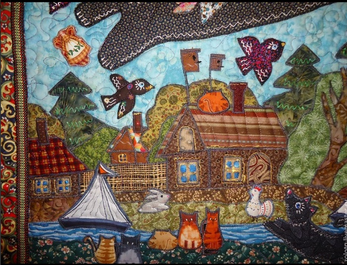 Patchwork art by Maryana Zolotova