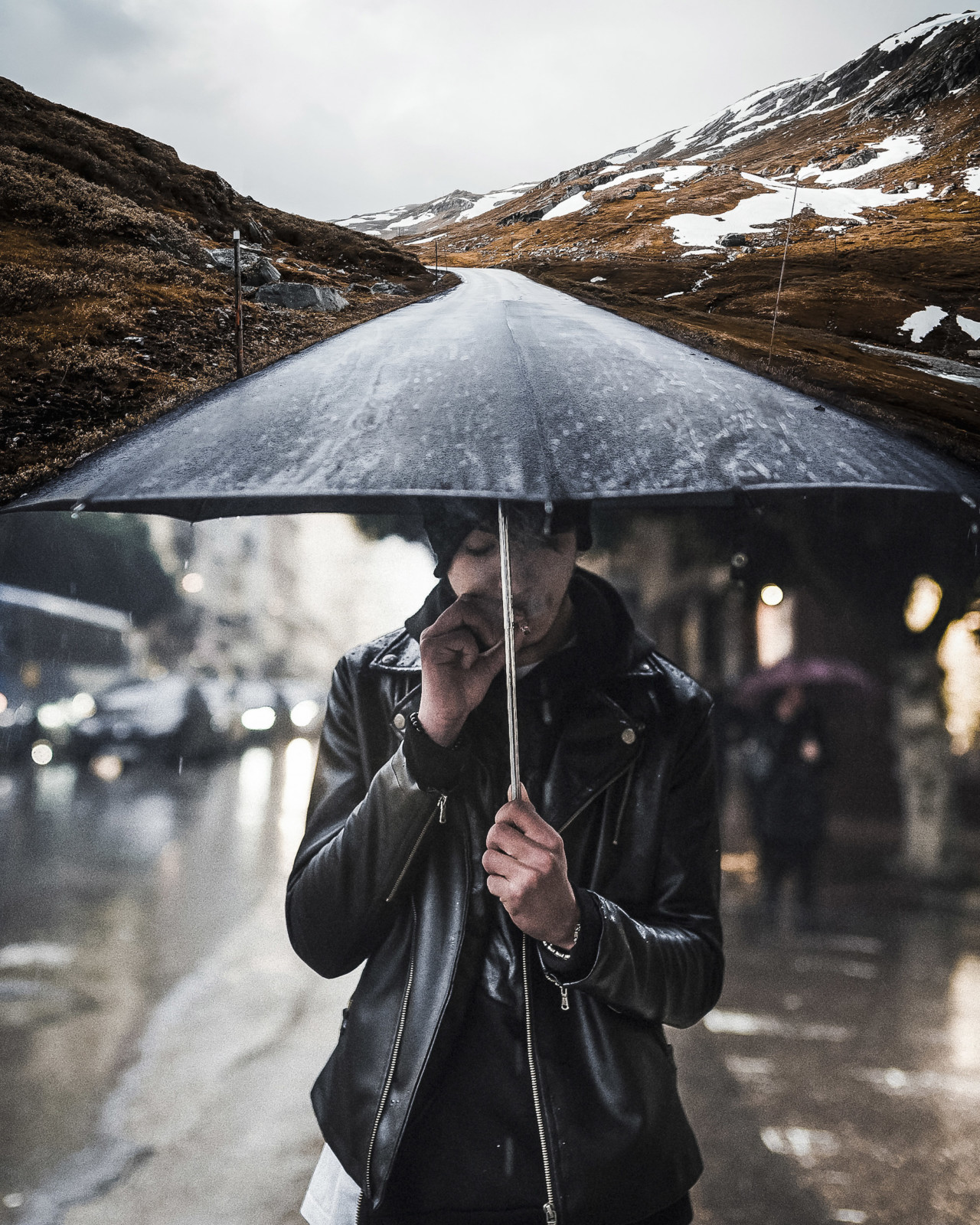Photo manipulations combining stock imagery by Justin Peters